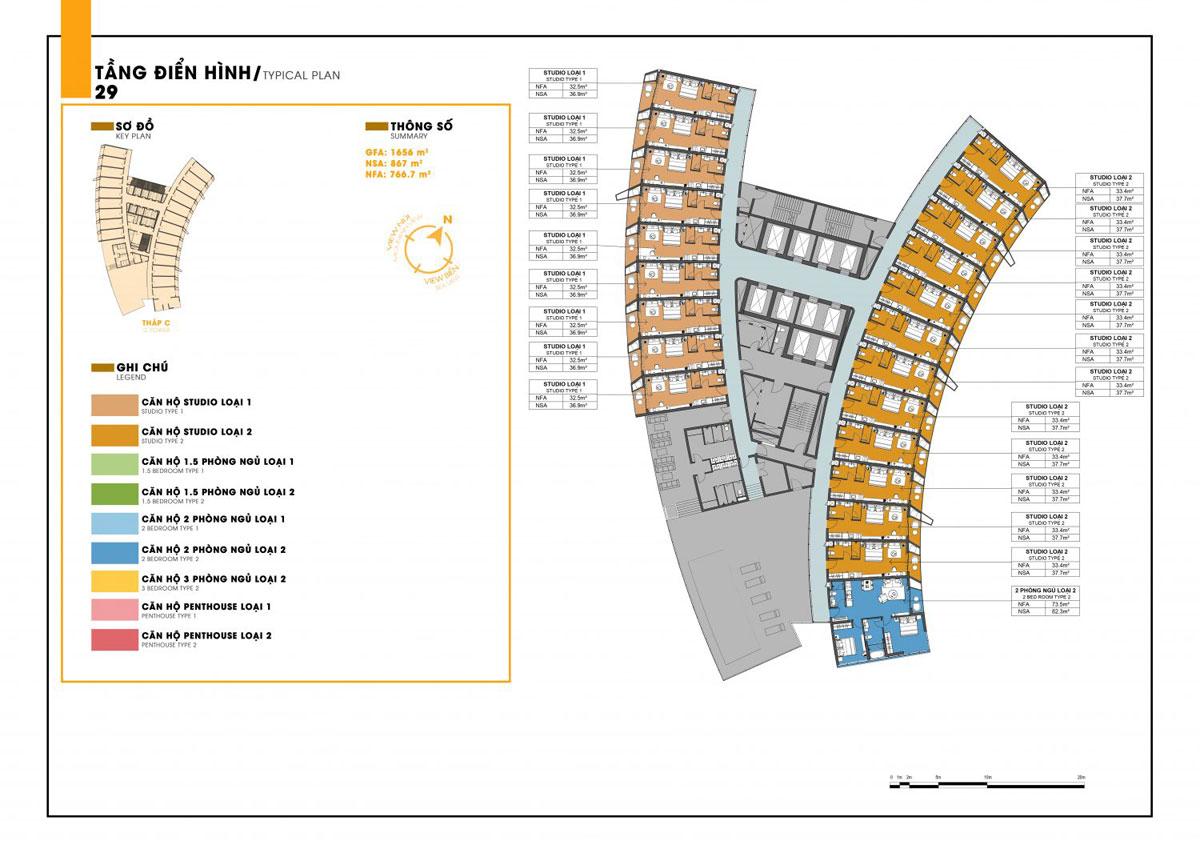 mat bang tang C 19 sunbay park - DỰ ÁN SUNBAY PARK HOTEL & RESORT NINH THUẬN