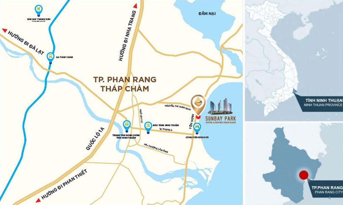 Vị trí SunBay Park Hotel & Resort Phan Rang