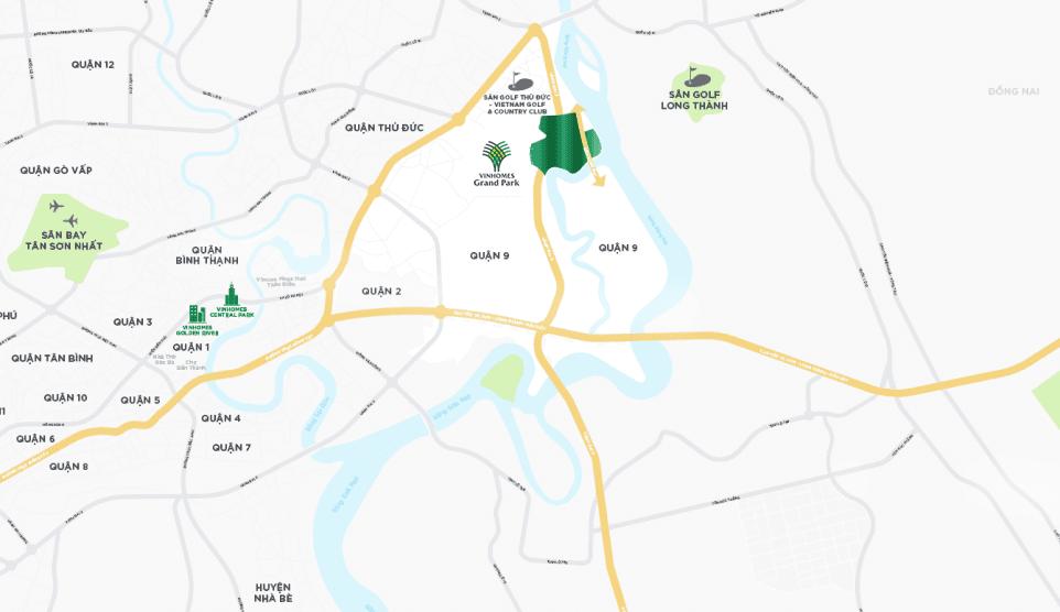 vị trí vinhomes grand park