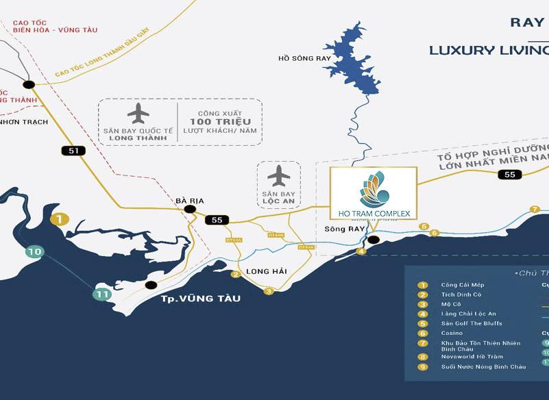 Vị trí địa lý và thế mạnh Hồ Tràm Complex