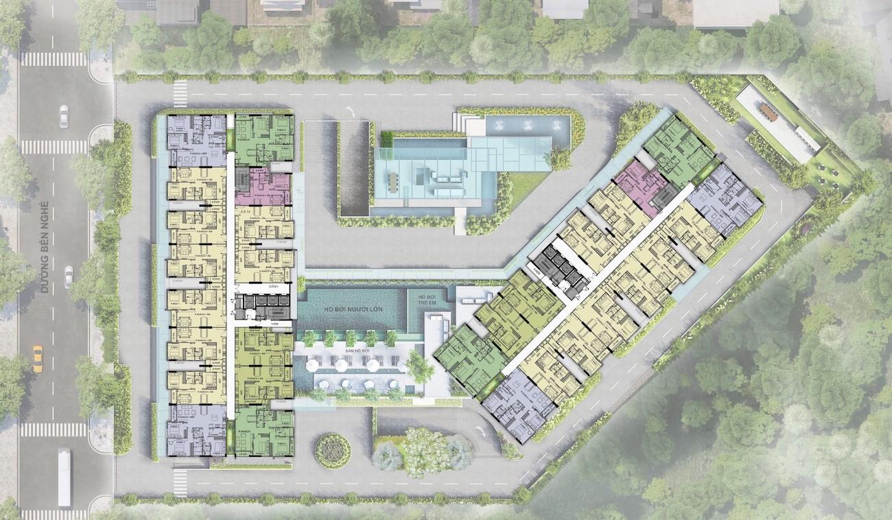 Mặt bằng dự án Ascent Garden Homes Quận 7